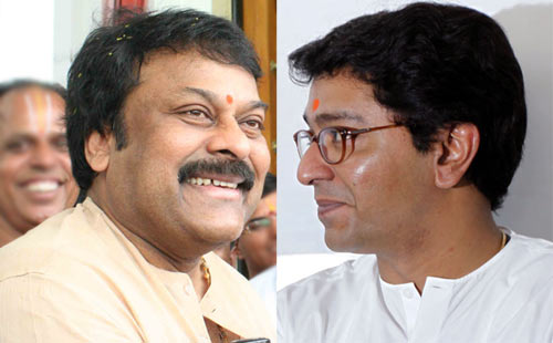 Chiranjeevi and Raj Thackeray