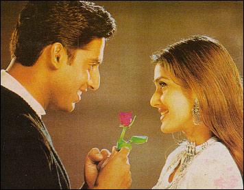 Kirti Reddy with Abhishek Bachchan in Tera Jadoo Chal Gayaa