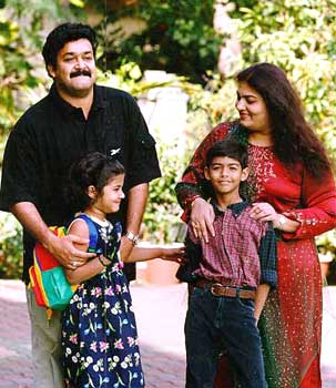 Mohanlal with his family