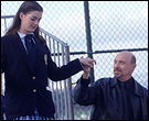 Anne Hathway and Hector Elizondo in The Princess Diaries