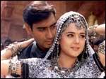 Ajay Devgan and Preity Zinta in Yeh Raaste Hain Pyaar Ke