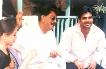 Mahima Chaudhry, Priyadarshan and Sunil Shetty
