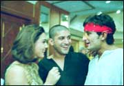Preity Zinta, Farhan Akhtar and Saif Ali Khan