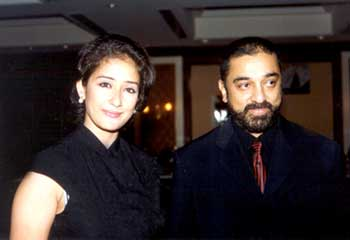 Manisha and Kamal at the Abhay music release