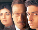 Sushmita, Jackie Shroff and Abhishek in BISKH