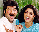 Anil Kapoor with Sridevi