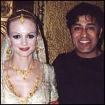Hesh Sarmalkar with Heather Graham on the sets of The Guru