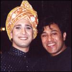 Hesh Sarmalkar with Jimmi Mistry on the sets of The Guru