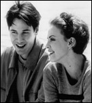 Keanu Reeves and CharlizeTheron