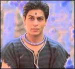 Shah Rukh Khan on the sets of Asoka - The Great