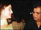 Kareena Kapoor with Yaadein director Subhash Ghai