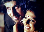 Amitabh Bachchan with Nandita Das in Aks
