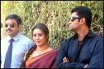 Paresh Rawal, Mahima Chaudhary and Sunil Shetty on the sets of Yeh Tera Ghar Yeh Mera Ghar
