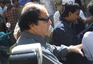 Feroz Khan outside the NCB office