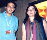 Ashutosh Gowariker and Reena Dutta