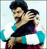 Anil Kapoor and Madhuri in Tezaab