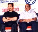 Kamal Haasan [left]