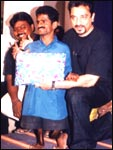 Kamal Haasan [right]