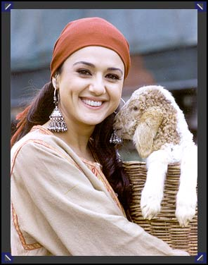 Zinta's costumes have been created by designer duo abu jani-sandeep
