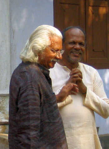 Adoor Gopalakrishnan on the sets