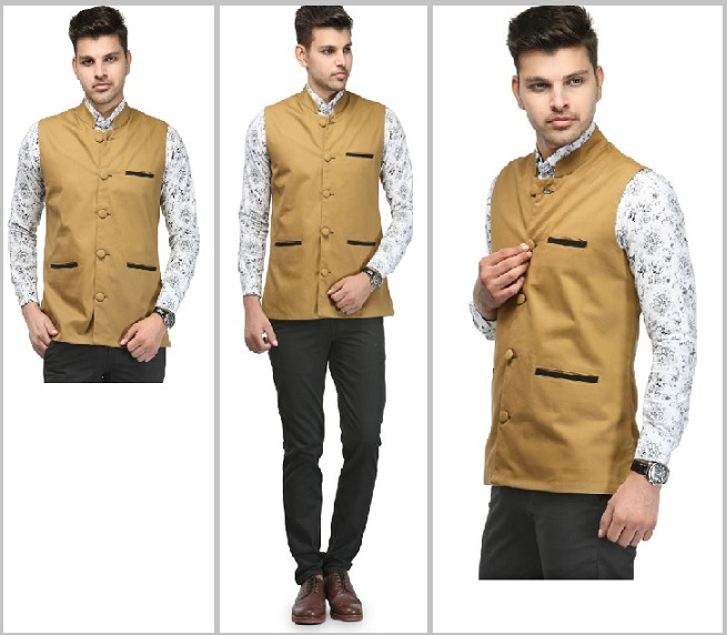 Golden Nehru Jackets