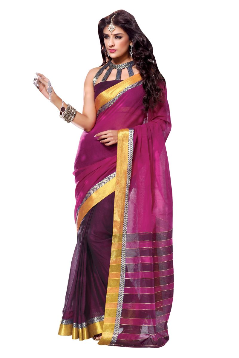 Modern Look Sarees With Zari Border