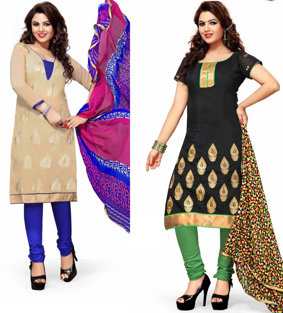 Find Here Wide Range Chanderi Dress Material
