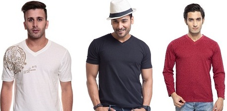 Find Her Wide Range Of V Neck Shirts For Men