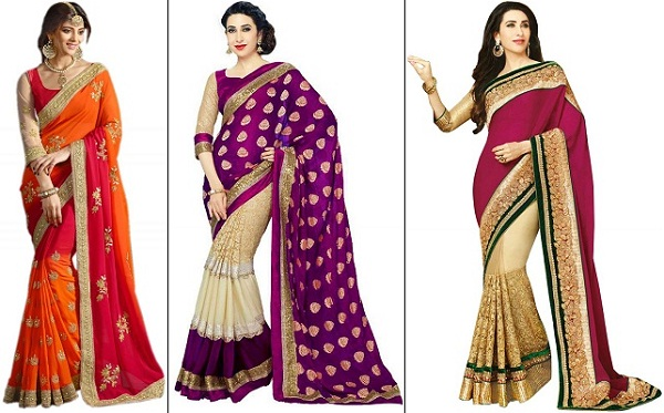 Designer sarees for reception