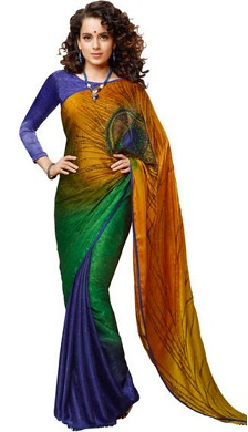 Multi coloured Jacquard saree
