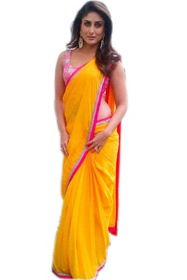 Yellow Georgette Saree