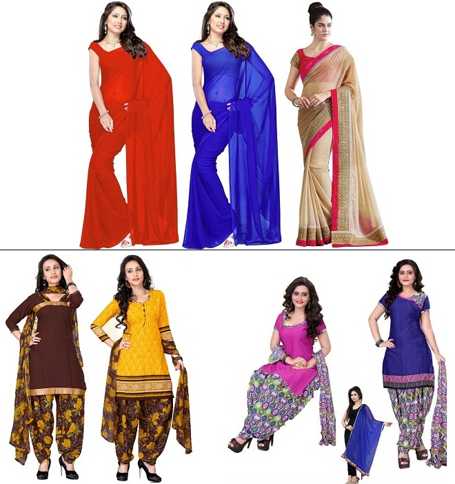 Sarees and dress materials