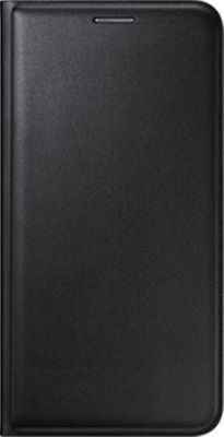 Black Leather Flip Cover for Samsung Galaxy A8