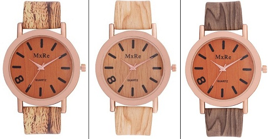 Wooden Finish Watches