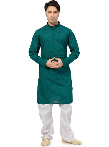 Green Kurta Pajama Set