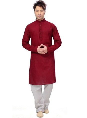 Red Kurta Pajama Set