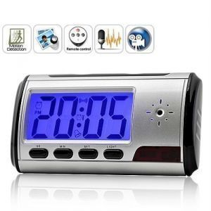 Digital Alarm Clock With Spy Camera