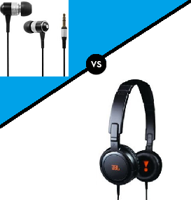 Over the ear vs In ear headphones