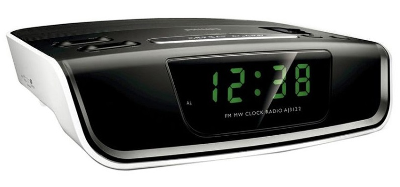 Philips Aj3122 Alarm Clock Radio Green LED