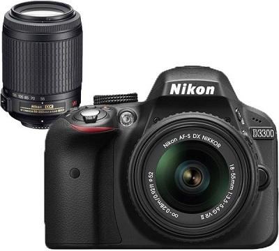 Nikon D3300 DSLR with Lens
