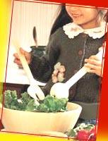 Sort, store, clean vegetables - even make a salad!