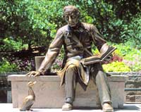 Hans Christian Andersen statue, Central Park, New York City