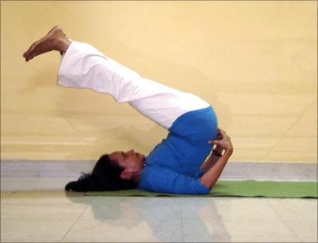 rediff.com:Viparita Karani mudra (Psychic union pose)