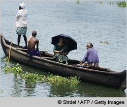 Small boats form an integral part of the transportation system in Kochi which has an abundance of canals and backwaters
