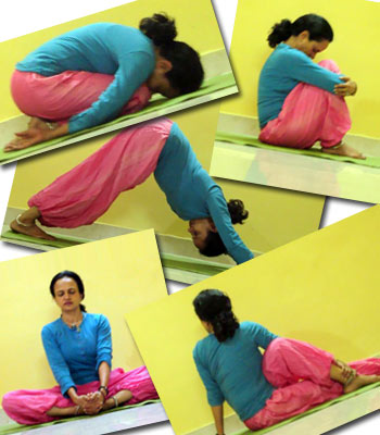 Five great tension-relieving poses