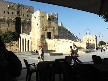 The medieval Citadel, a fortified castle on a hill in the centre of Aleppo, is one of the city's special landmarks. Everyone from the Greeks, Byzantines, Muslim caliphs to Kurdish princes have once lived on this hill, right from 3,000 BC