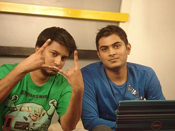From left: MTV VJ Hose and Ankit Fadia