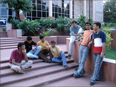 Students at the IIT-Roorkee campus