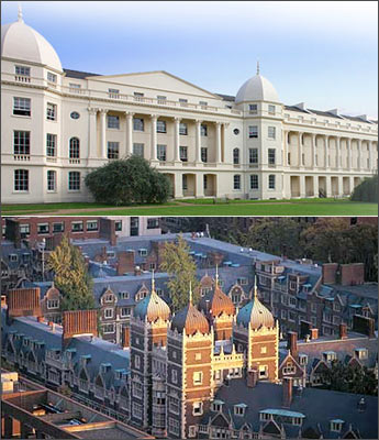 (Top) London Business School; (bottom) Wharton School, University of Pennsylvania