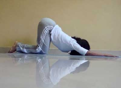 Marjariasana (Cat stretch, variation)